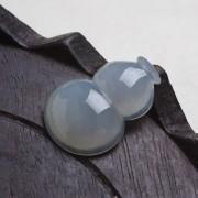 冰种淡紫起荧翡翠葫芦-P6