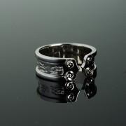 道家九字真言如意银戒指