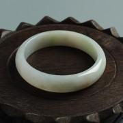 冰种清雅翡翠平安手镯(56mm)-20HN02