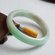 苹果绿翡翠平安手镯(60mm)-17JL07